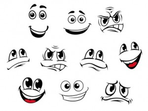 Faces Showing Emotions